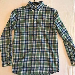 Vineyard Vines Boys Size L (16) Flannel Shirt